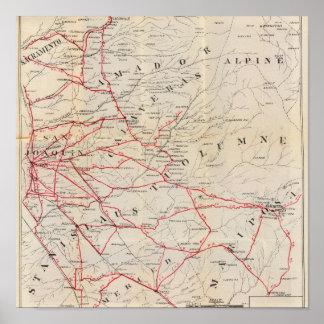 Sacramento, Amador, Calaveras, San Joaquin Print