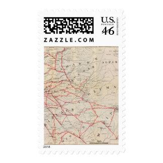 Sacramento, Amador, Calaveras, San Joaquin Stamps
