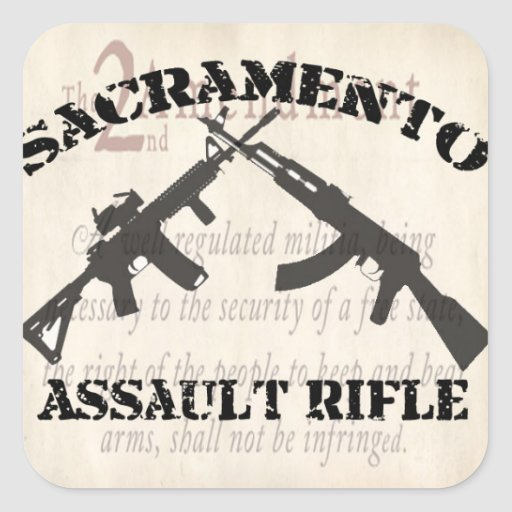 Sacramento Assault Rifle Stickers