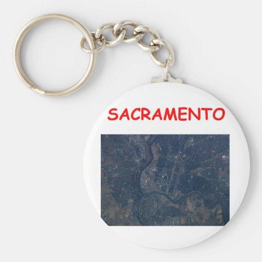 sacramento basic round button keychain