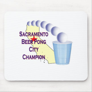 Sacramento Beer Pong City Champion Mouse Pad