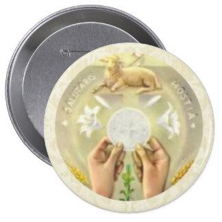 Sacramento bendecido Eucaristía santa - sacerdote Pin Redondo De 4 Pulgadas