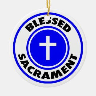 Sacramento bendecido ornamento de navidad