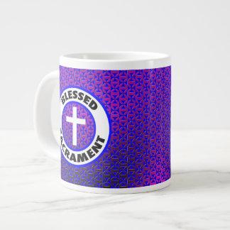 Sacramento bendecido taza grande