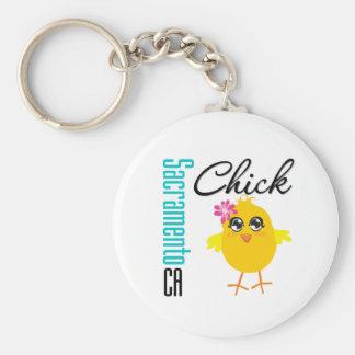 Sacramento CA Chick Key Chain