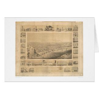Sacramento, CA. Panoramic Map 1857 (0066A) Card