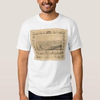 Sacramento, CA. Panoramic Map 1857 (0066A) T Shirt