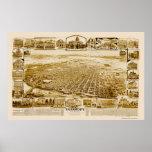 Sacramento, CA Panoramic Map - 1890's Print