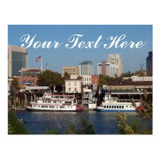 Sacramento CA postal de su texto aquí