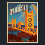 "Sacramento, CA Postcard<br><div class=""desc"">Anderson Design Group is an award-winning illustration and design firm in Nashville,  Tennessee. Founder Joel Anderson directs a team of talented artists to create original poster art that looks like classic vintage advertising prints from the 1920s to the 1960s.</div>"