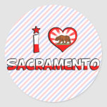 Sacramento, CA Round Sticker