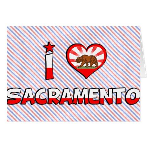 Sacramento, CA Tarjeta De Felicitación