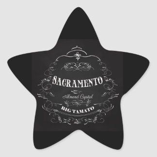 Sacramento, California - Almond Capital Star Sticker