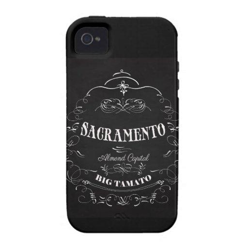 Sacramento, California - capital de la almendra Vibe iPhone 4 Fundas