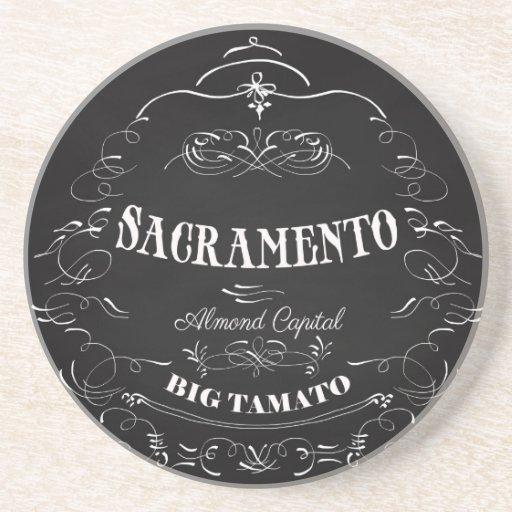 Sacramento, California - capital de la almendra Posavasos Para Bebidas
