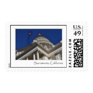 Sacramento California Capitol Original Photograph Stamp