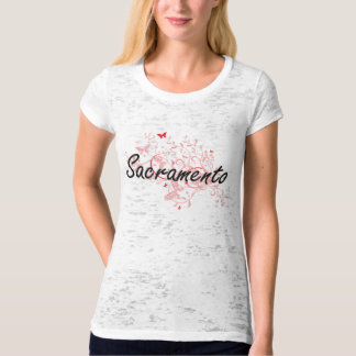 Sacramento California City Artistic design with bu T-Shirt