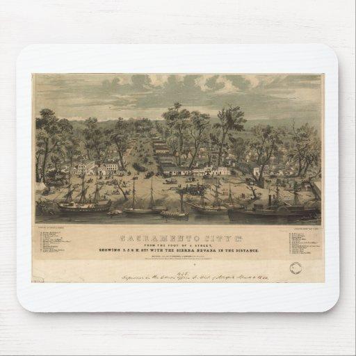 Sacramento California en 1850 Tapete De Raton