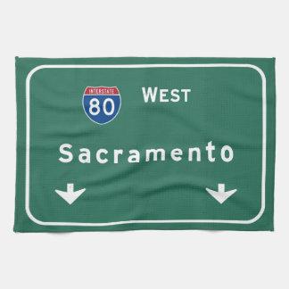 Sacramento California Interstate Highway Freeway : Hand Towel