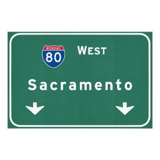 Sacramento California Interstate Highway Freeway : Photo Print