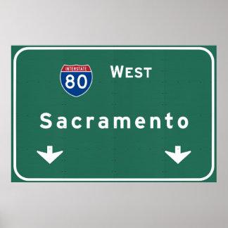 Sacramento California Interstate Highway Freeway : Poster