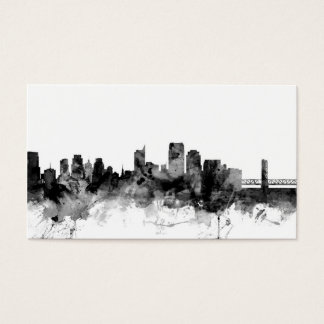 Sacramento California Skyline Business Card