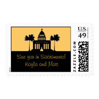 Sacramento, California Skyline Postage Stamp
