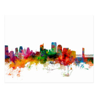 Sacramento California Skyline Postcard