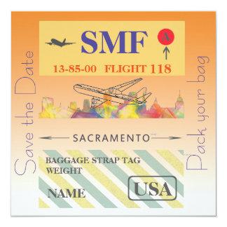 SACRAMENTO, CALIFORNIA SKYLINE WB1 - CARD