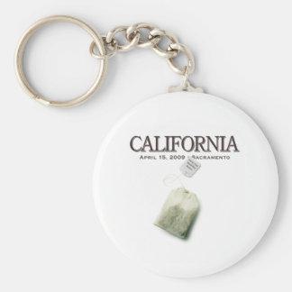 Sacramento California Tea Party Keychain