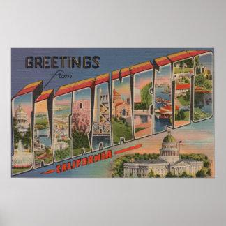 Sacramento, CaliforniaLarge Letter Scenes 2 Poster