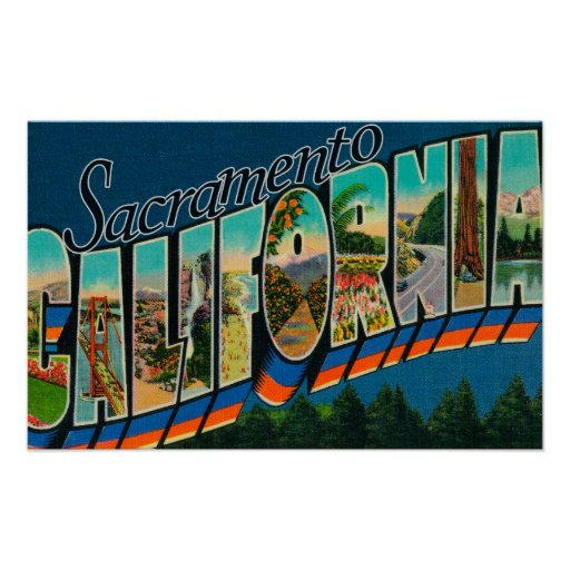 Sacramento, CaliforniaLarge Letter Scenes Poster