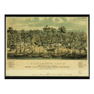Sacramento City California in 1849 by C Parsons Postcard