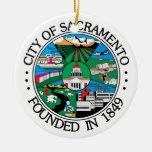 Sacramento city seal christmas tree ornament