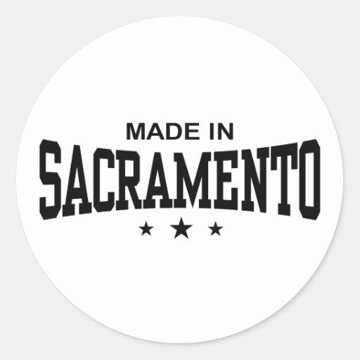 Sacramento Classic Round Sticker