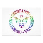 Sacramento de la confirmación - pendiente del Espí Invitacion Personalizada