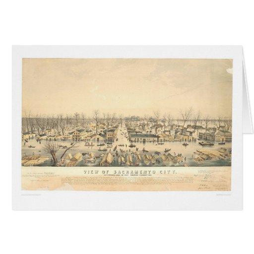 Sacramento durante la inundación de 1850 (1586A) Tarjeta De Felicitación