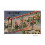 Sacramento, escenas de la letra de CaliforniaLarge Tarjetas Postales