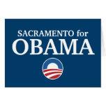 SACRAMENTO for Obama custom your city personalized Card