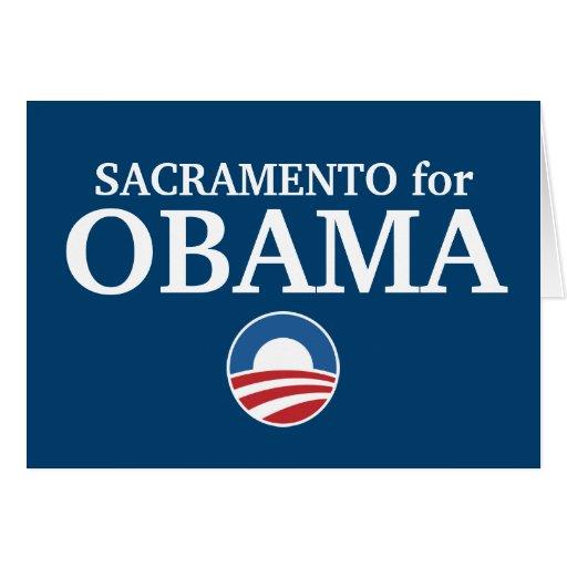 SACRAMENTO for Obama custom your city personalized Greeting Card