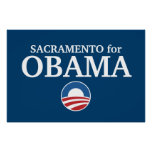 SACRAMENTO for Obama custom your city personalized Print