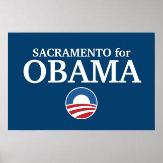 SACRAMENTO for Obama custom your city personalized Poster