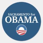 SACRAMENTO for Obama custom your city personalized Round Sticker