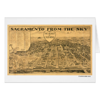 Sacramento from the Sky, 1923 Card
