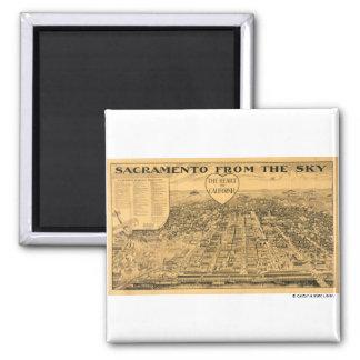 Sacramento from the Sky, 1923 Magnet