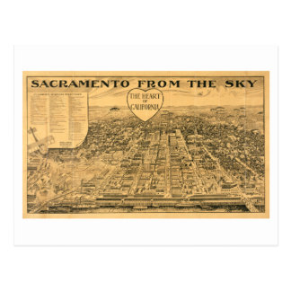 Sacramento from the Sky, 1923 Postcard