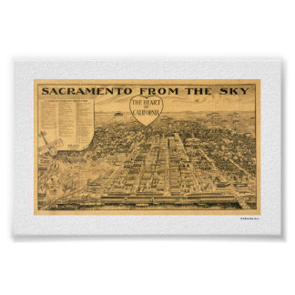 Sacramento from the Sky, 1923 Poster