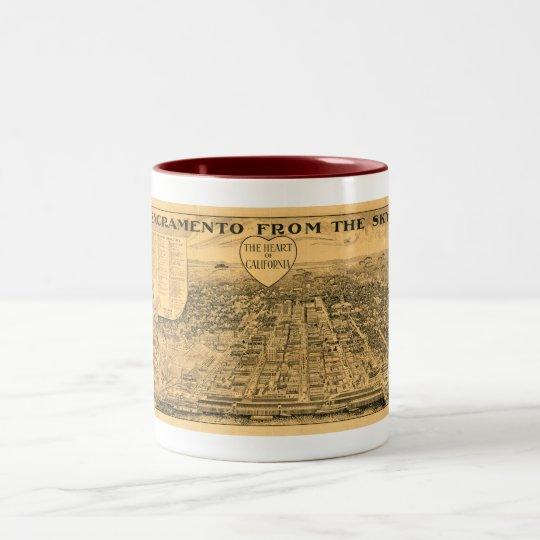 Sacramento from the Sky, 1923 Two-Tone Coffee Mug