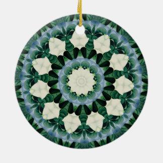 Sacramento Green and Cerulean Blue Mandala Ceramic Ornament