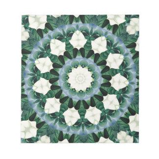 Sacramento Green and Cerulean Blue Mandala Notepad